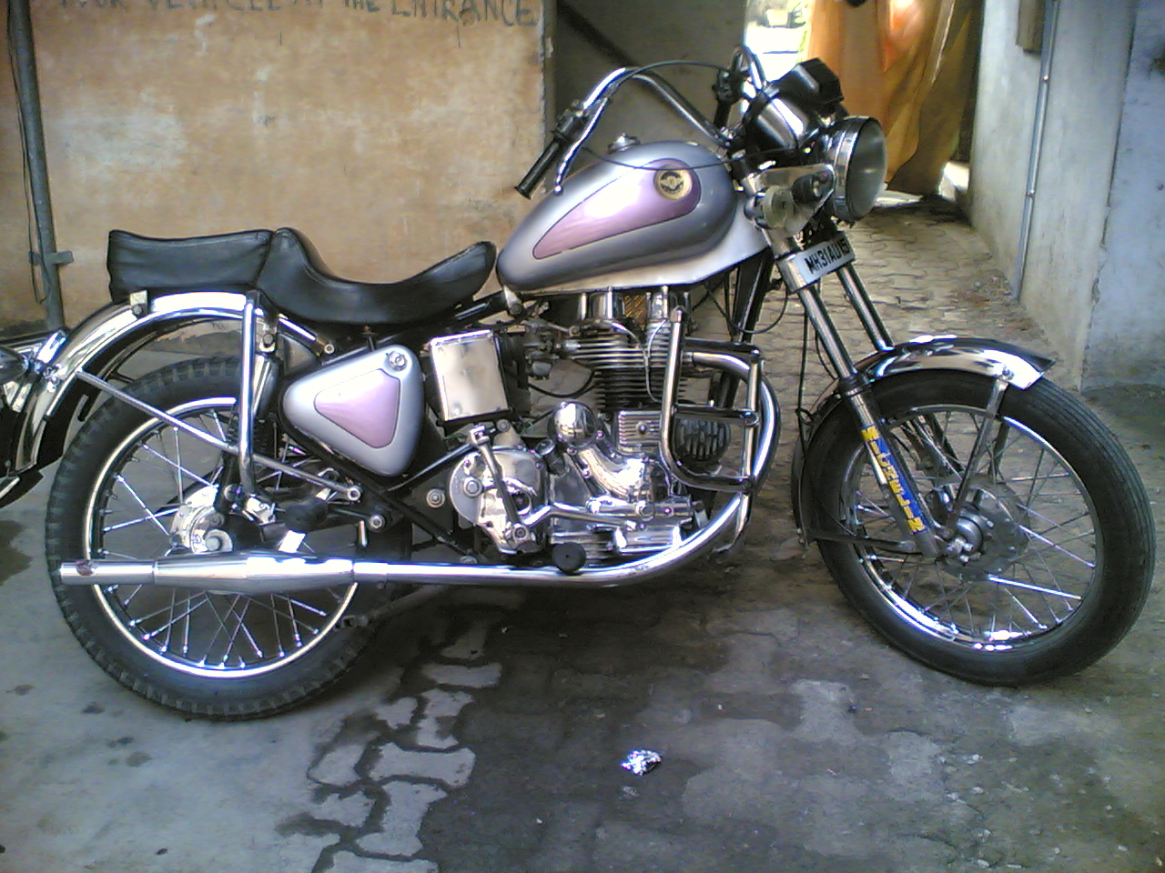 bullet modified into chopper -