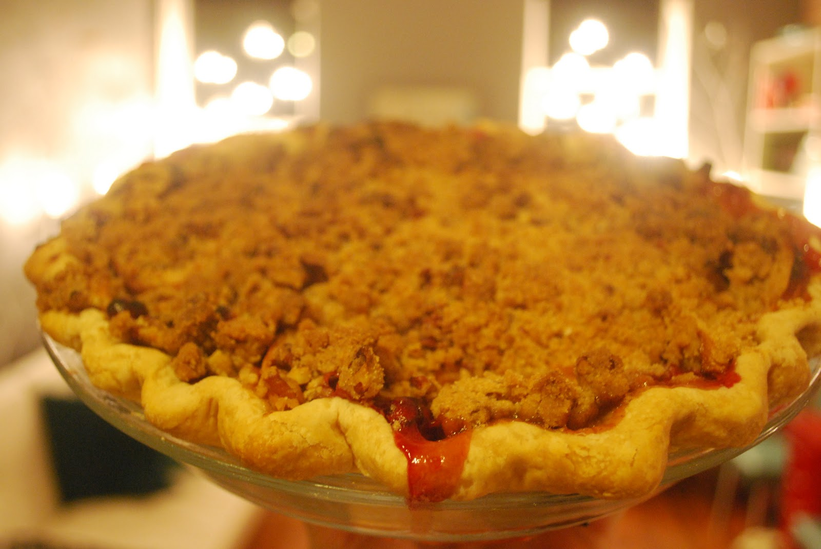 Pie Love You: Cranberry-Apple Crumble Pie #39