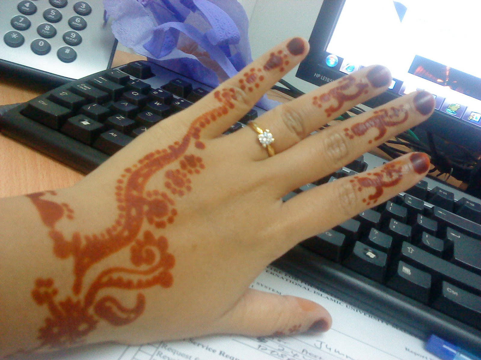 Me NOT ATTENTION SEEKERS Henna Drawing