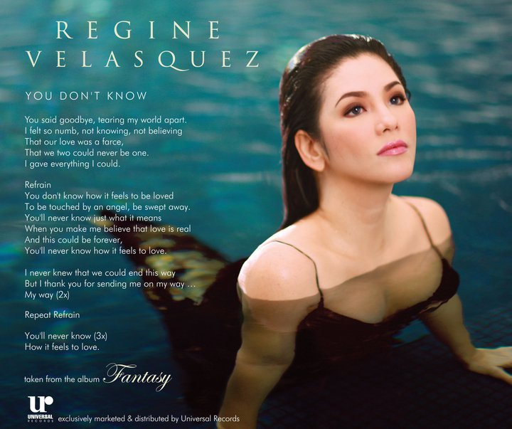 Regine Velasquez - The Greatest Love Of All Lyrics ...