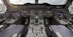 Visita virtual cabine A380