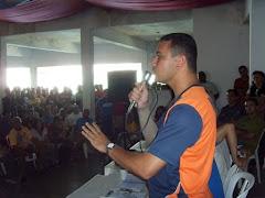 Sargento Araújo discursando para a tropa no Rio Grande do Norte