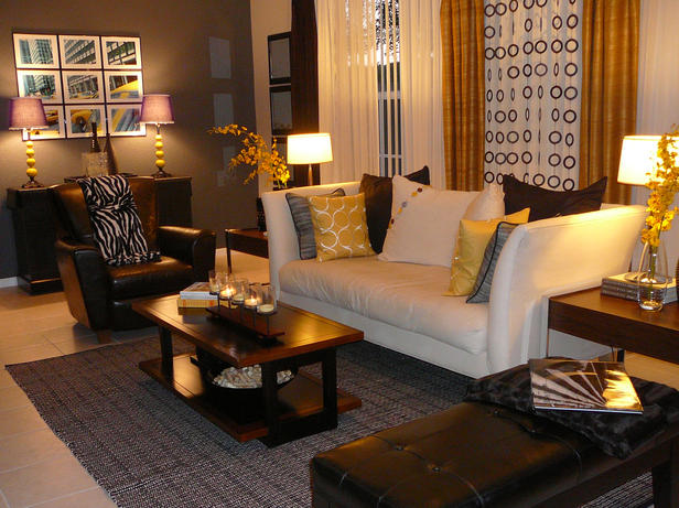 The grass is greener september 2010 for Black cream and gold living room ideas