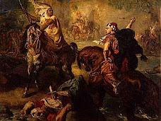 Chefs de tribus arabes au combat