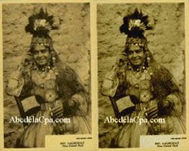 coiffure d'origine assyrienne et visage de sphynx (Maupassant)