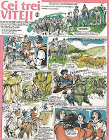 benzi desenate cutezatorii romanesti cei trei viteji puiu manu petru demetru popescu comics romanian romanian revista