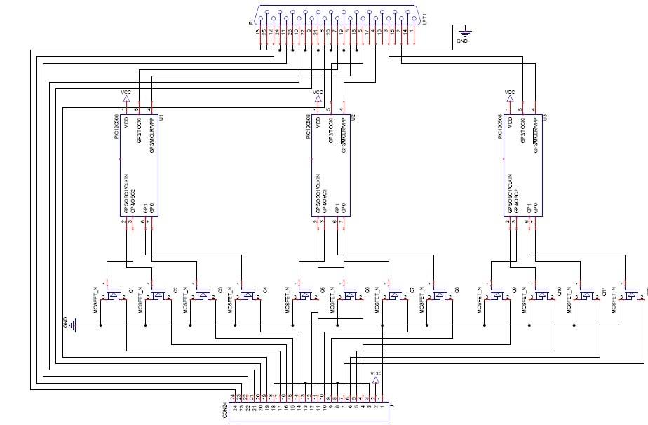Braille printer control circuit at cnc machine for Cnc stepper motor controller circuit