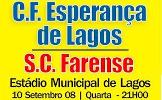 Apresentação do plantel do Esperança de Lagos aos seus associados, o convidado é o Farense.
