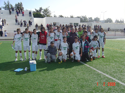 A equipa vencedora em Olhão