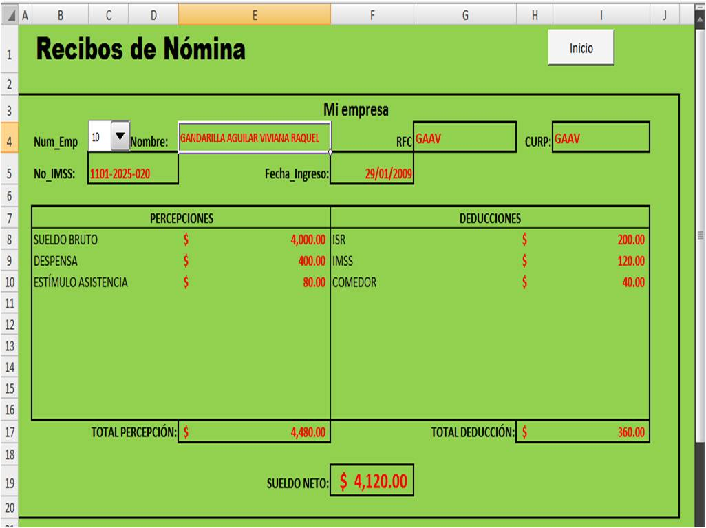 Excel nomina 2016 new style for 2016 2017 for Nomina de trabajadores en excel