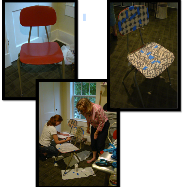 old plastic school chairs