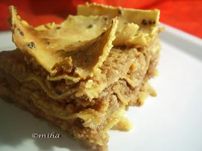 Lasagna cu mere si nuci