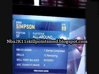 How To Get NBA 2K11 Skill Points for Free !