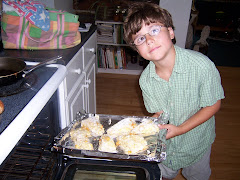 Helping with the scones.