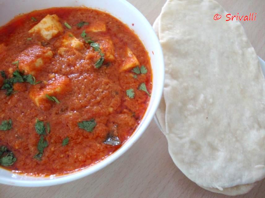Low Calorie No Er Paneer Masala Microwave Step By Recipes