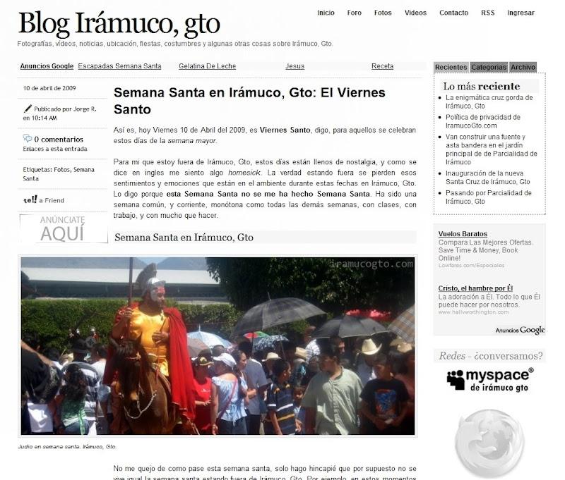 Colabora con El blog de Irámuco, Gto