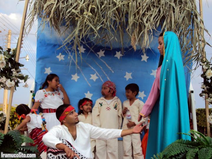 Escena de la virgen de Guadalupe - Iramuco, Gto. 2009