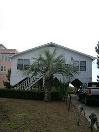 front of folly beach house