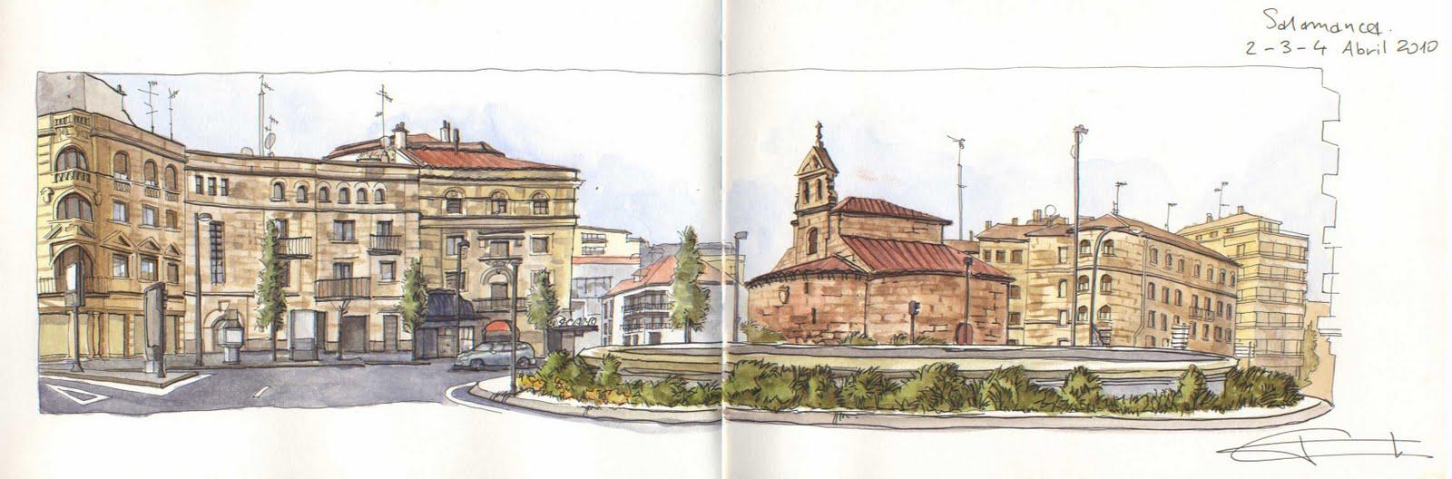 Urban sketchers spain el mundo dibujo a dibujo for Puerta zamora salamanca