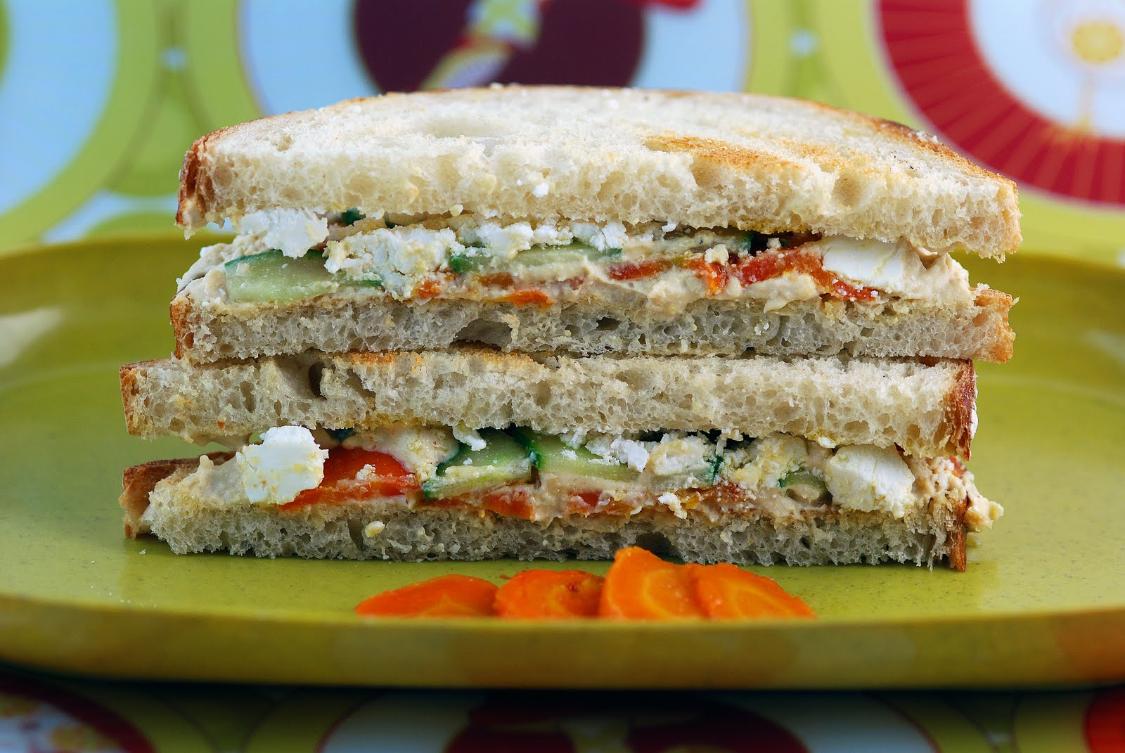Vegetable Matter: Moroccan Carrot and Hummus Sandwich