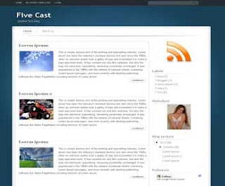 Five Cast Blogger Template