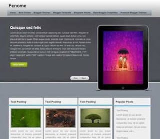 Fenome Blogger Template