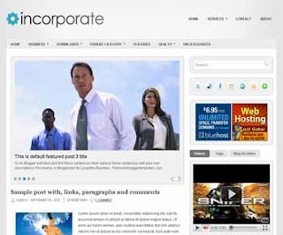 Incoporate Blogger Template