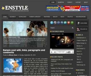 Enstyle Blogger Template