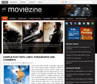 Movie Zine Blogger Template