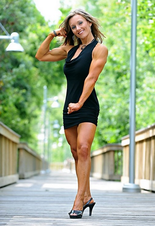 Muscular Womens Dressed: Flame.