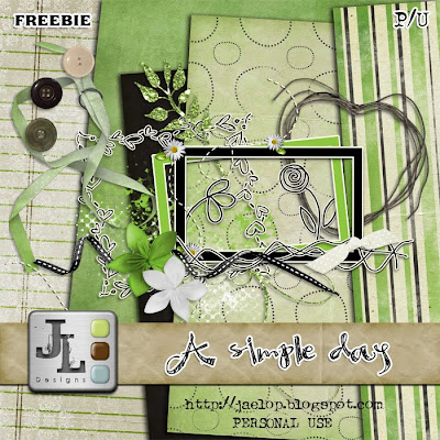 "Scrapbook Freebie ""Simple Day"" from Jaelop Designs"