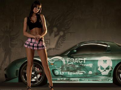 Papel De Parede Carros E Mulheres