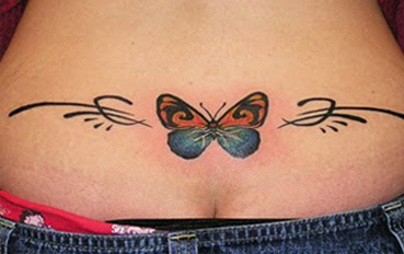 tribal butterfly tattoo design