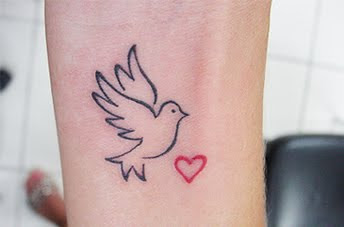 dove tattoo in search of peace