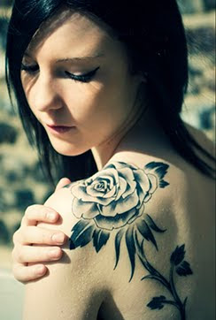 black rose tattoo for girls