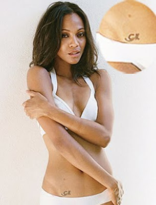 zoe saldana lower tattoo design