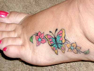 Flower butterfly tattoo designs