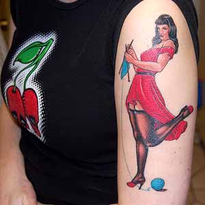 Pin up girl tattoo designs