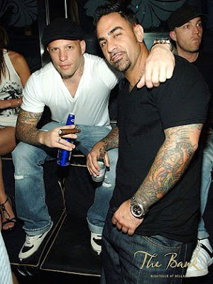 Ami James and Chris Nunez in Bank Nightclub