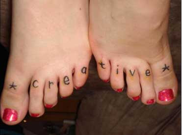 images of Toe flower tattoo