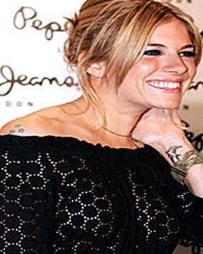 Sienna Miller Tattoo Secret Of Happiness