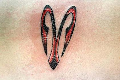 Picture of Aries Tribal Tattoo