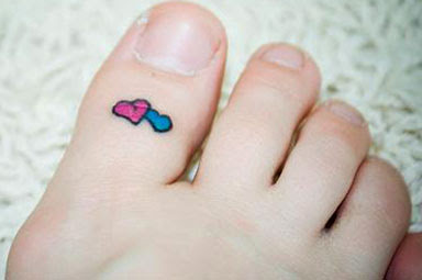 love heart tattoo design