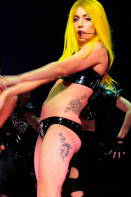 lady gaga new thigh tattoo