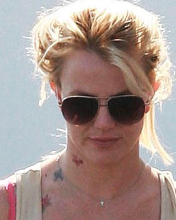 Britney spears new neck tattoo design