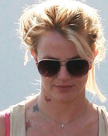 britney spears neck tattoo 2010
