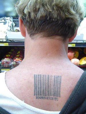 bar code tattoos. ar code tattoos. arcode