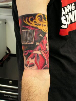 tattoo barcode. arcode tattoo images.