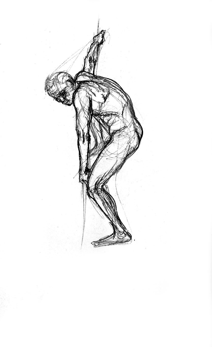 Charlene Kelley  Life Drawing Male Figure