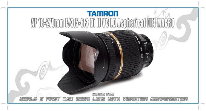 TAMRON AF 18-270mm f/3.5-6.3 Di II VC LD Aspherical (IF) MACRO